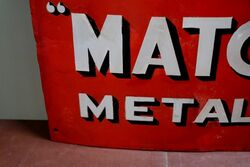 A Rare Matchless Metal Polish Pictorial Enamel Sign