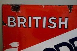 British Goodrich Tyres Enamel Advertising Sign
