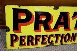 Early Pratts Perfection Spirit Enamel Sign
