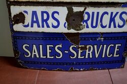 Rare and Early General Motors Advertising Sign