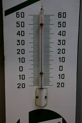 Vintage Castrol Z Enamel Advertising Thermometer