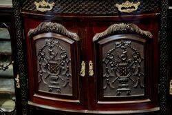 Antique Mahogany Louis Mirror Back Parlour Cabinet
