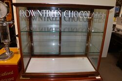 Antique Rowntrees Chocolates Counter Top Dispensing Cabinet