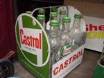 Castrol 9 Oil  Bottle  Rack With Bottles.