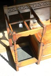 1920and39s Oak Hall Seat Stick Stand