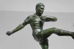 1920s Spelter Figure Of A Football Player