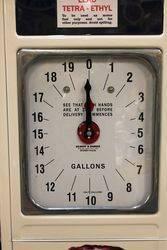 1930and96s Art Deco Gilbert + Barker Petrol Pump