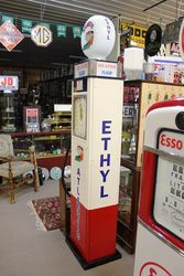 1930and96s Art Deco Gilbert + Barker Petrol Pump