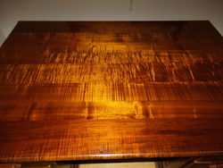 1930s Australian Fiddle Back Blackwood Desk