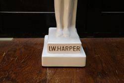 1950and39s IWHarper White China Decanter