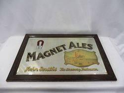 1950s Magnet Ales Framed Pub Mirror
