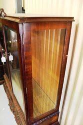 1950s Mahogany 2 Door Display Cabinet
