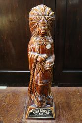 1968 Ezra Brooks Indian Figure Whiskey Decanter