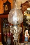 19th Century All Lead Glass Oil Lamp C1890
