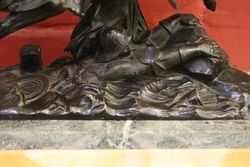 19th Century Bronze +quotThe Death Of Charles The Bold+quot