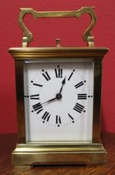 19th Century French Repeater Striking Carriage Clock 8 Day Movement
