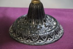 1st Half 20th Century Oil Lamp With Glass Shade