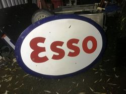 2019 Esso Oval Double Sided Enamel Sign