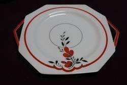 20 Piece Art Deco Hand Painted China Tea Set By Paragon English C1925