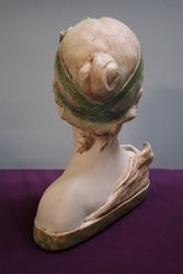20th Century French Chalk Bust Of Dora