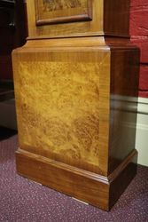 20th Century Walnut Short Case Clock 8 Day 14 Hour Westminster Chime Movement