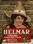 HELMAR CIGARETTES PICTORIAL POST MOUNT----ST128c