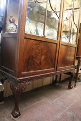 2 Door Mahogany Display Cabinet
