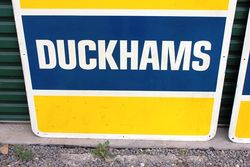 2 Piece Duckhams Service Tin Sign
