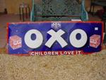 LARGE OXO ENAMEL SIGN  ---SG114