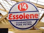 Essolene Round Double Enamel Sign