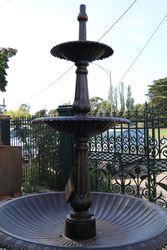3 Tiered Cast Iron Heron Fountain