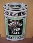 DIE CUT ANDREWS LIVER SALT ENAMEL SIGN ---SG70