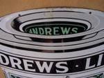 DIE CUT ANDREWS LIVER SALT ENAMEL SIGN ---SG70
