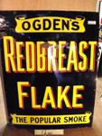 OGDENS REDBREAST FLAKE ENAMEL SIGN ---ST107