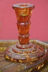 5 pc Deco Amber Trinket Set C1920