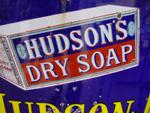 HUDSON DRY SOAP PICTORIAL ENAMEL SIGN---SG64