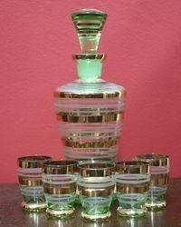 6 pc Retro Liquor Set C1940