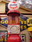 RESTORED GEX MANUAL PETROL PUMP IN MOBIL LIVERY ---PP23