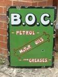 B.O.C. Oetrol and Motor Oils enamel sign---SA87