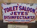 Jeye`s Saloon Enamel 2 sided sign------SM53