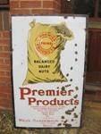 Premier dairy nuts cattle feed enamel sign----SM51c