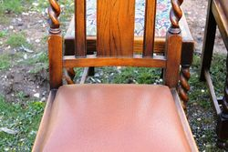 8 Oak Barley Twist Chairs