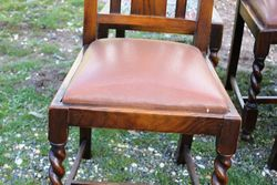 8 Oak Barley Twist Chairs