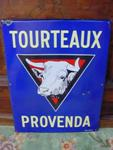 French cow farm enamel sign---SM34