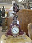 C19th French Marble And Spelter Clock