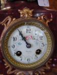C19th FRENCH MARBLE AND SPELTER CLOCK   C73