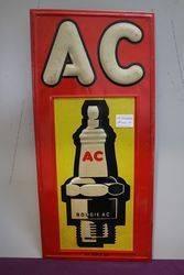 AC Embossed Advertising Tin Sign