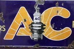 AC Plugs Enamel Advertising Sign