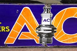 AC Spark Plugs Enamel Sign