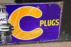 AC Spark Plugs Enamel Sign